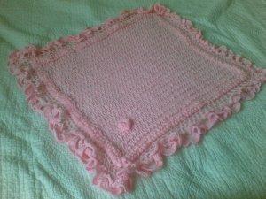 Baby Shawl Pink Square