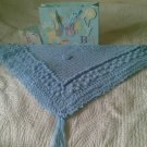 Winter Blue Baby Shawl