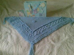 Winter Blue Baby Shawl