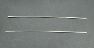 """4"""" 9999 Pure Silver Wire - 2 Pieces 10 Gauge"""