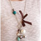 White/Green/Brown Necklace
