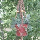 MACRAME PLANT HANGER  VERIEGATED BROWN 40""