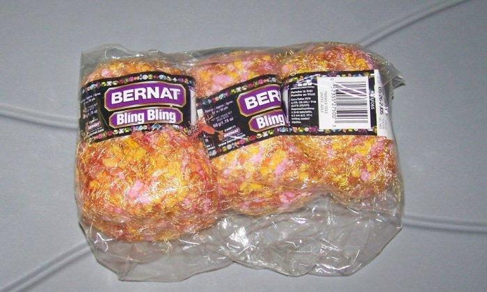 pack of 3 skeins bernat yarn