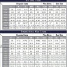 Size chart for all of our products