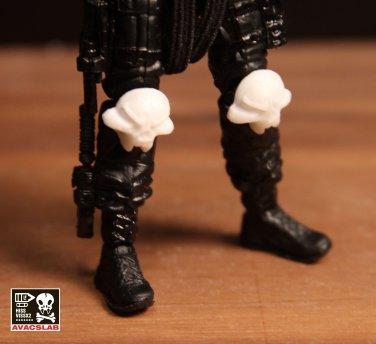 Skull Knee Pads Pair (White)