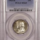 1953-D Washington Quarter   PCGS MS65