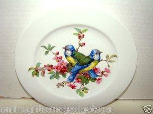 vintage plate of birds/germany