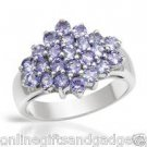 Vibrant Brand New Ring With 2.30ctw Genuine Tanzanites in 925 Sterling silver