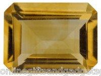 1.10ct  Brazilian Citrine Emerald Cut Gemstone
