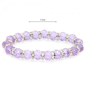 Bracelet With Genuine Crystals - PURPLE
