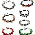 BEAUTIFUL Shamballa Style GLASS BEADED BRACELET - AUCTION IS FOR 1 - NEW