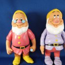DISNEYS - MATTELS CLASSIC- TWO RARE COLLECTIBLE RUBBER- SNOW WHITE'S  DWARF'S