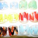 MIXED LOT OF 38 MURANO STYLE RINGS - GREAT DEAL!!!