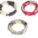 3 CHOICES OF PEARL & GEMSTONE BRACELETS - NEW