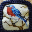 BEAUTIFUL BIRD TAPESTRY  HANDMADE PICTURE WOOD BOX FROM L.A. BURDICK CHOCOLATES