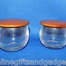 2 COLLECTIBLE SOLID MYRTLEWOOD LIDDED GLASS JARS