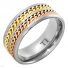 Brand New Gentlemens Band Ring Well Made in Titanium