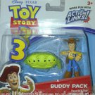 Lot of 2 Disney / Pixar Toy Story 3 Buzz w/Alien & Woody w/2 Peas in Pod