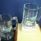 COLLECTORS TWO GLASS JAGUARS MUGS