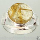 size 7 ELITE GOLDEN TOURMALINTED QUARTZ 925 STERLING SILVER ARTISAN RING