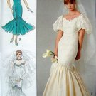 8425 Wedding Flounce Dress Bride Gown Bridesmaid Size 12 UNCUT - 1987