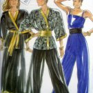 6167 NL Ladies Wrap Jacket Jumpsuit Skirt Cummerbund Pattern UNCUT  sz 8-18