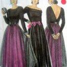 6035 NL Ladies Open Back Dress & Net OverSkirt  Pattern UNCUT  sz 8-18