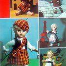 Paton's Dolls Clothes Around the World Knit Pattern Book 9 Outfits - 1972