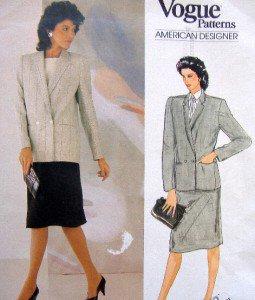 1104 Vogue JOSEPH PICONE Jacket Skirt Pattern sz14 UNCUT -