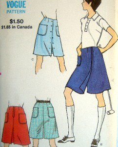 "Vintage Vogue 8027 Ladies Pantskirt Skirt Pattern Waist 27"" Hip 38""  UNCUT"