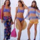 5103 Ladies Swimsuit Cover-up Shorts Bag Pattern - size 6-12 UNCUT