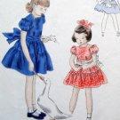 Vintage Vogue 2524 Little Girls Dress Pattern sz 6