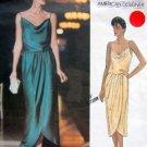 1137 Vogue KASPAR Straight Wrap Dress Pattern sz 8-12 UNCUT