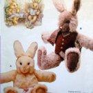 "7138 Vogue Stuffed Rabbits Pattern - Carr 28"" UNCUT -1988"