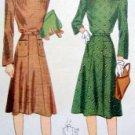 Vintage 3962 Button Down Shoulder Dress  size 14/32 Pattern