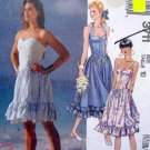 3711 Ladies Halter Strapless Sundresses Pattern sz 10 UNCUT - 1988
