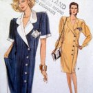 7531 Vogue Button Front Dress Pattern sz 14-18 UNCUT  - 1989