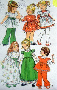 Vintage 5993 Toddler Girls Dress Smock Pants Pattern sz 3  UNCUT - 1973