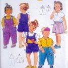 5173 Burda Toddler Easy Jumpsuit Shorts Pants Pattern sz 6M - 4  UNCUT