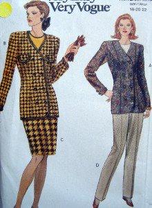 8236 Vogue Ladies Jacket Skirt Pants Pattern sz18-22 UNCUT