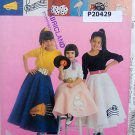 9453  POODLE CIRCLE SKIRT & PETTICOAT Costume Pattern Toddler sz 3-4 UNCUT