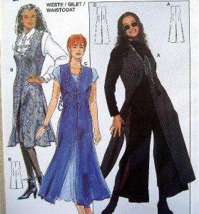 4139 Burda Ladies Easy Waistcoat Pattern sz 8-18 UNCUT