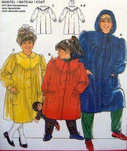 6170  Burda Little Girls Coats Pattern sz 2-10  UNCUT