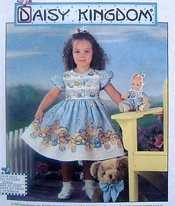 7496 Daisy Kingdom Toddler Dress & Doll Pattern sz6mo-2 UNCUT - 1997
