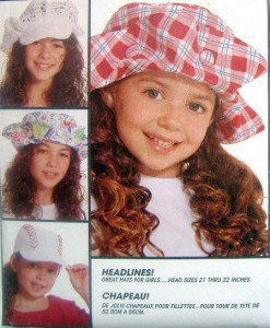 7530 Girls Summer Hats Pattern 12 Designs  UNCUT - 1995
