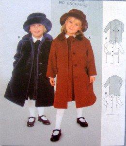 2646 Burda Little Girls Coats Pattern Sz 2-7 UNCUT