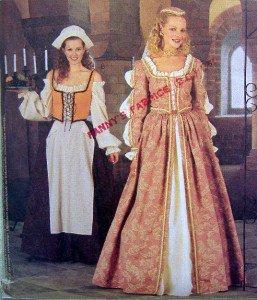 2793 Elizabethan Costume Dresses Pattern sz 8-12 UNCUT - 2000