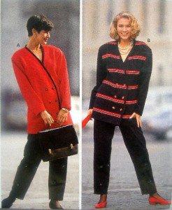 4698 Burda Ladies Jacket & Pants  PATTERN sz 10-20 UNCUT