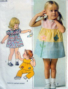 7988 Adorable Toddler Tiered Dress PATTERN sz 2  - UNCUT - 1977