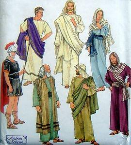8108 PASSION OF CHRIST PLAY COSTUMES PATTERN sz adult  XS-XL  UNCUT